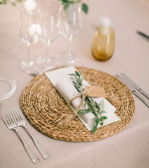 63 Creative And Cute Wedding Placemats for Every Style