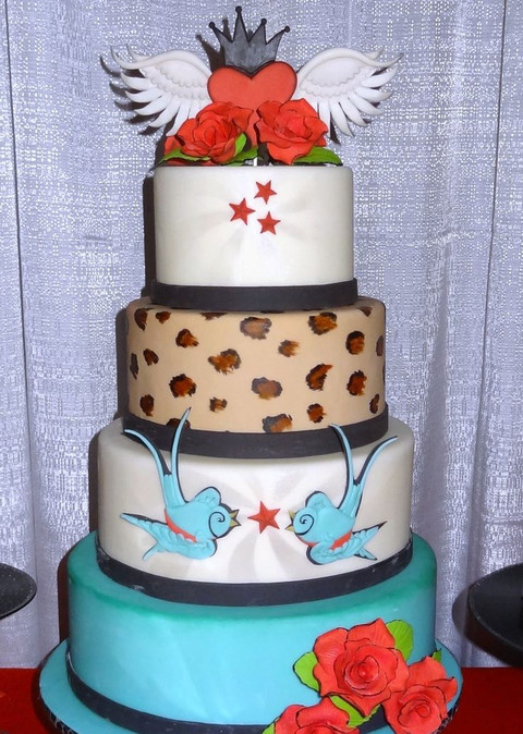 rockabilly wedding cake 60 and colorful rockabilly wedding cakes happywedd 19241