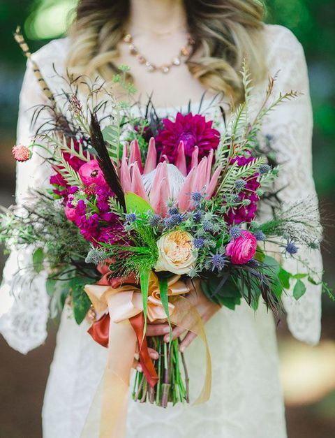 55 Relaxed Yet Breathtaking Boho Chic Wedding Bouquets