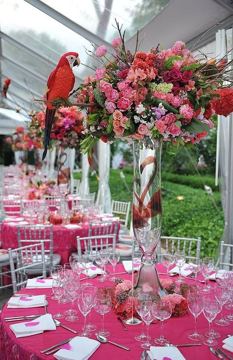 tropical wedding reception decorations 57 cheerful tropical wedding table settings happywedd 8087