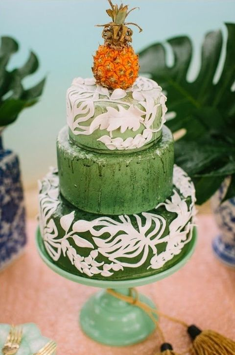 tropical wedding cake ideas 44 beautiful bold tropical wedding cakes happywedd 21276