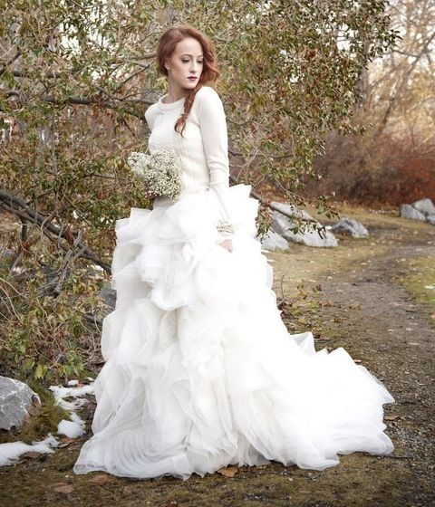 17 Bridal Looks With Sweaters For Cold Weather Weddings