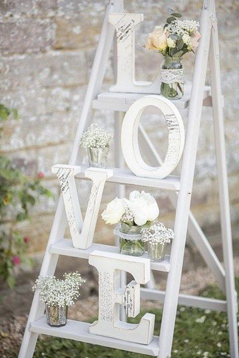 46 Creative Ways To Use Ladders On Your Big Day