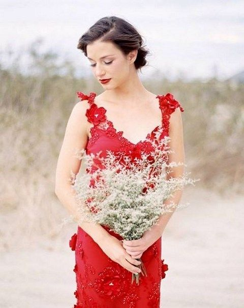 Dare To Rock: 50 Refined Red Wedding Dresses