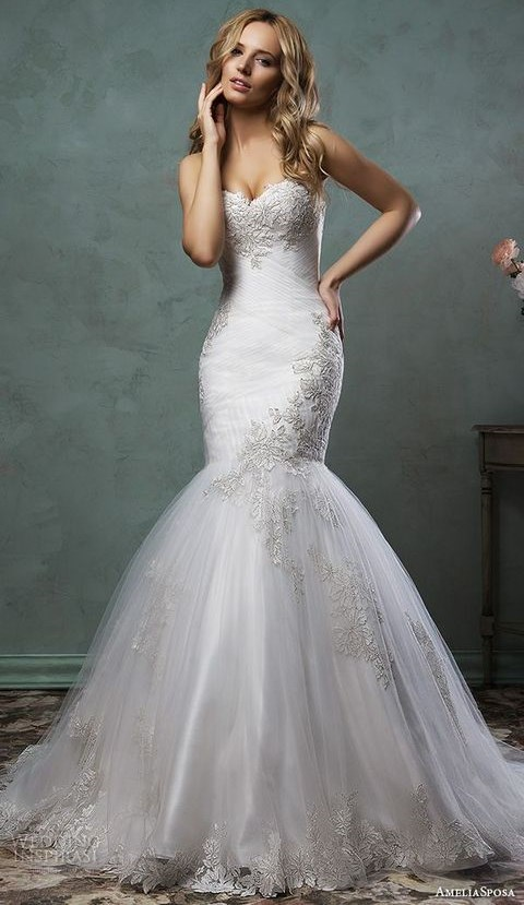 38 Sweetheart Wedding Gowns That Will Take Your Breath Away