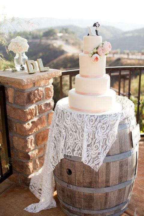 simple vintage wedding cake how to use barrels at your wedding 53 ideas happywedd 20040