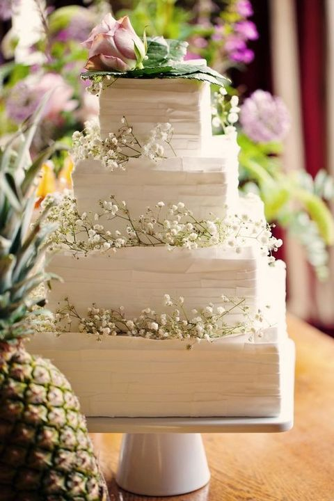 wedding cakes pictures square 53 square wedding cakes that wow happywedd 25282