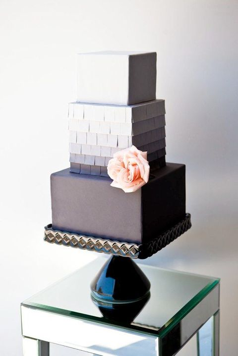 modern square wedding cake designs 53 square wedding cakes that wow happywedd 17468