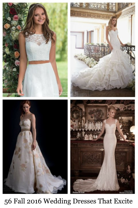 56 Fall 2016 Wedding Dresses That Excite