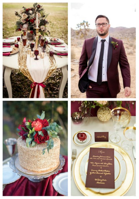 44 Elegant Burgundy And Gold Wedding Ideas