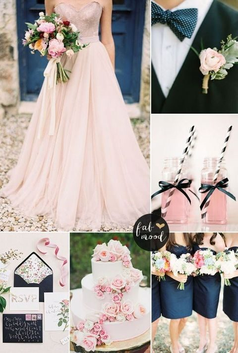 Rose Gold And Blue Wedding Theme The Best Wedding Picture In The World