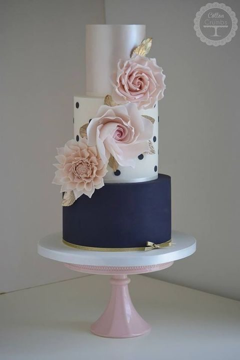 soft pink and silver wedding cakes 34 navy and blush wedding ideas happywedd 20278