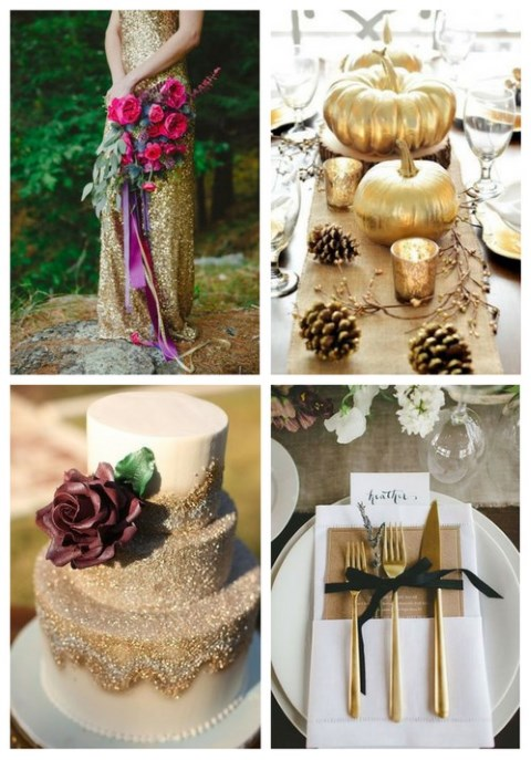 36 Stylish Ways To Add Gold To Your Fall Wedding