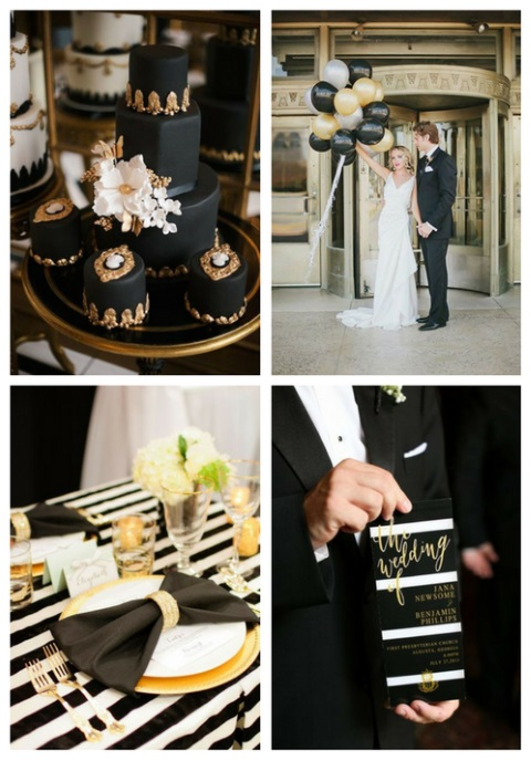 54 Black, White And Gold Wedding Ideas