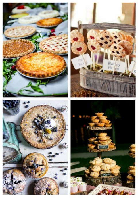 26 Wedding Pie Bars And Displays