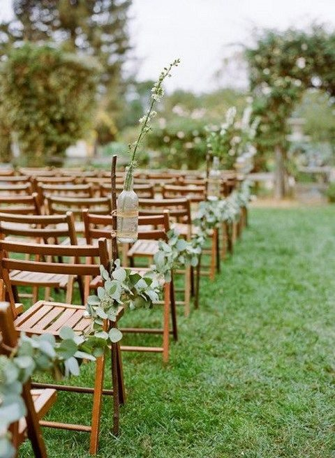 eucalyptus garland for ddecorating wedding aisle