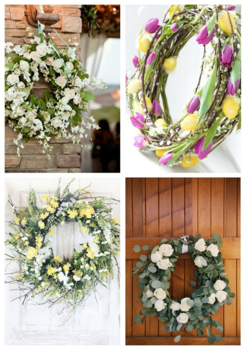 37 Fresh Spring Wedding Wreaths