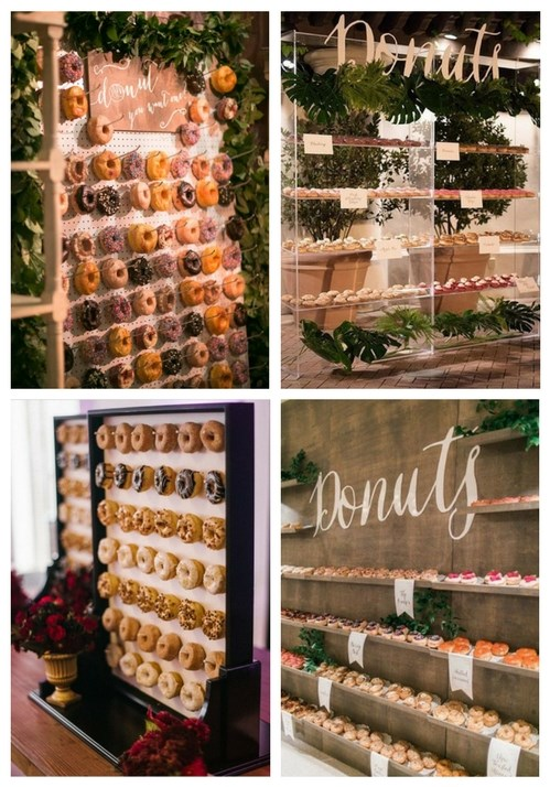 Wedding Catering Trend: 34 Donut Walls