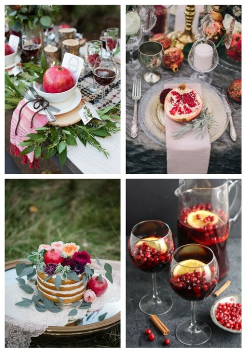 55 Pomegranate Wedding Ideas For Fall And Winter