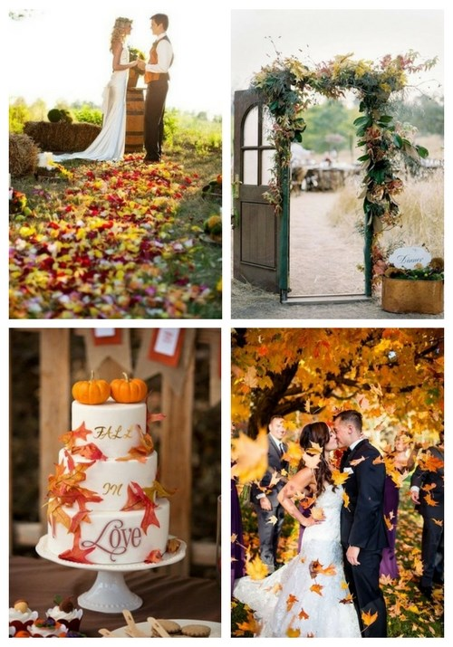 38 How To Incorporate Fall Leaves Into Your Wedding