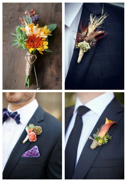 37 Fall Wedding Boutonnieres For Every Groom