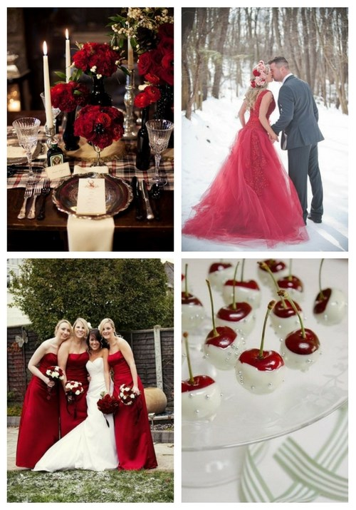 32 Bold Red Winter Wedding Ideas