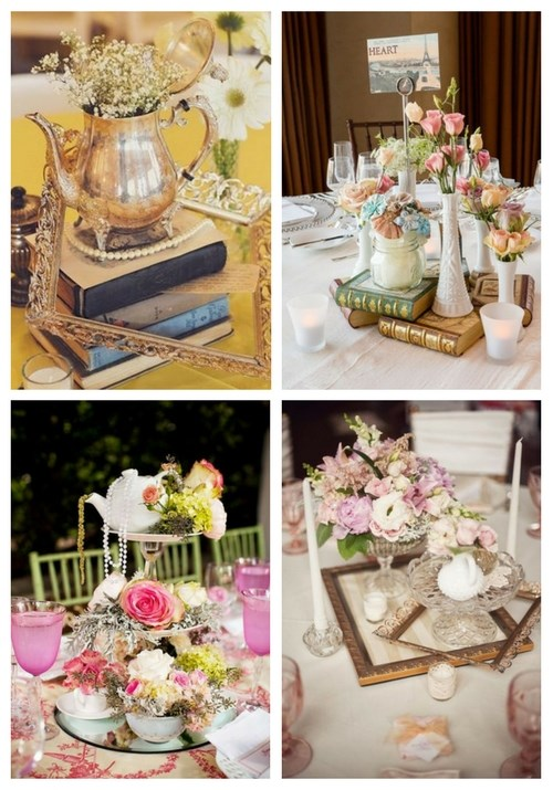 vintage outdoor wedding decorations 40 charming vintage wedding centerpieces happywedd 8291