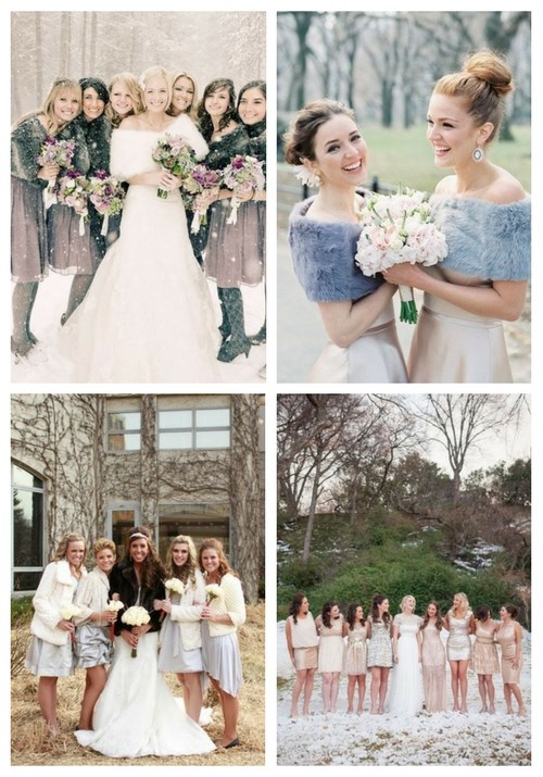 42 Fabulous Winter Bridesmaids' Dresses And Wraps