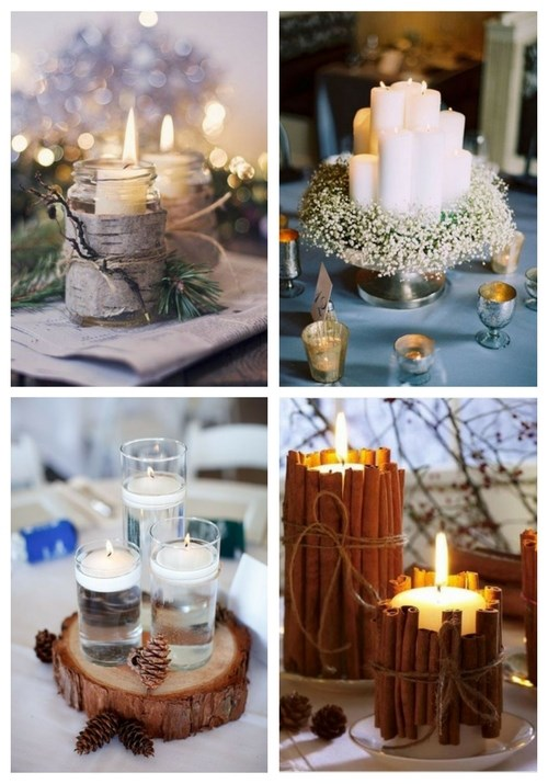 55 Winter Wedding Candles Ideas