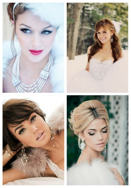 42 Gorgeous Winter Bridal Makeup Examples