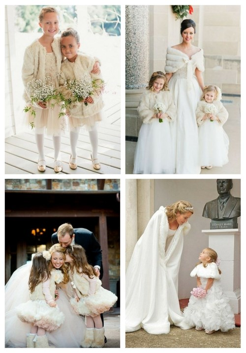 27 Winter Flower Girl Outfits To Keep Them Warm And Stylish