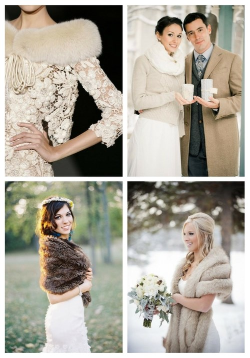 Stylish And Comfy Wraps And Coats For Winter Brides
