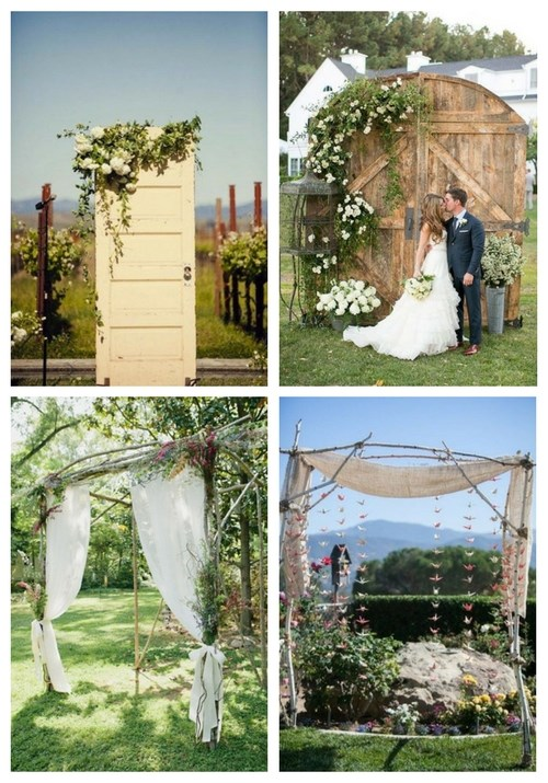 47 Dreamy And Romantic Backyard Wedding Backdrops And Arches