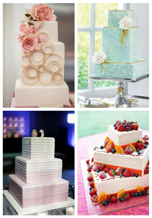 53 Square Wedding Cakes That Wow