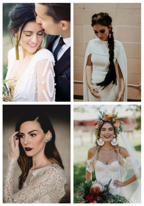 25 Edgy Statement Earrings Ideas For Brides