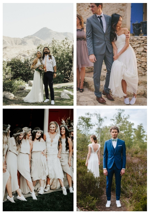 23 Brides' And Grooms' Looks With Sneakers