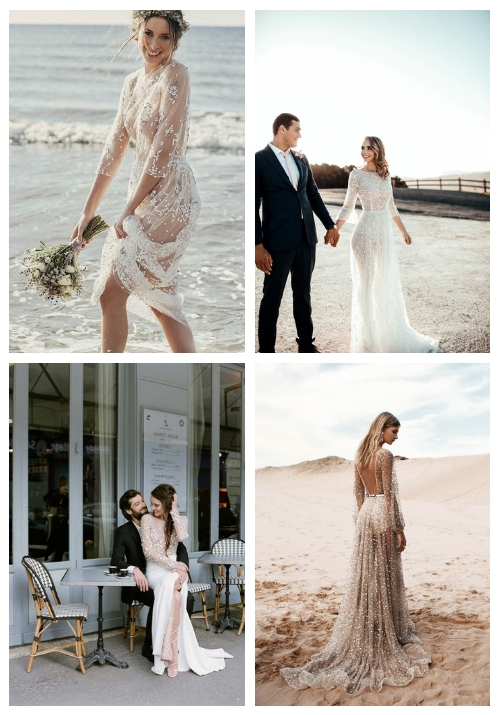 23 See Through And Naked Wedding Dresses