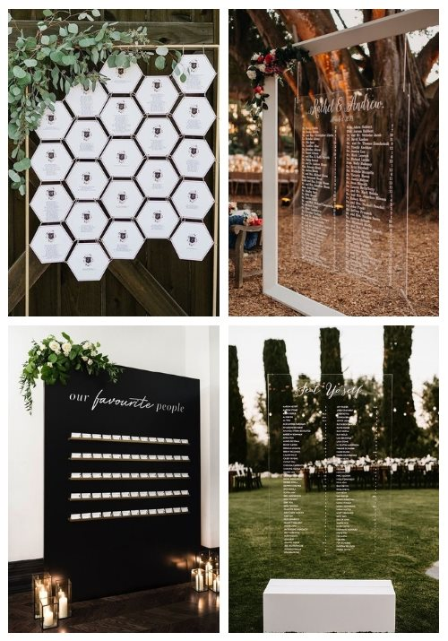 25 Modern Wedding Seating Charts To Try