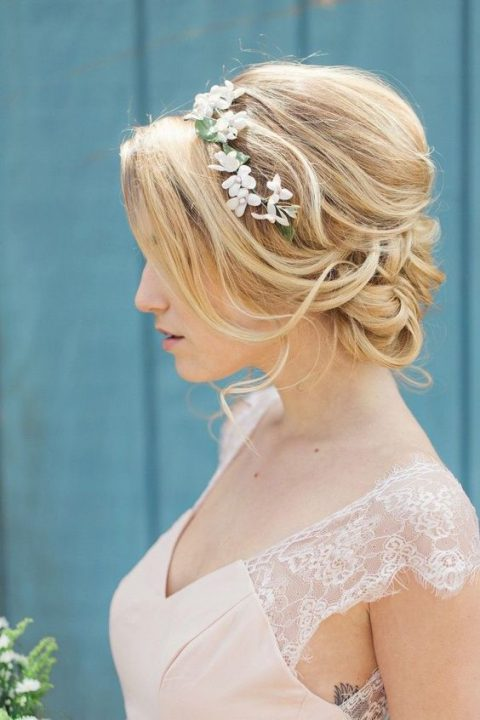 31 Medium Length Wedding Hair Ideas Happywedd Com