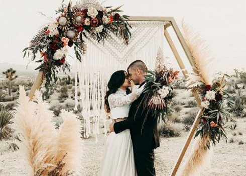 34 Boho Wedding Arches And Backdrops That Inspire