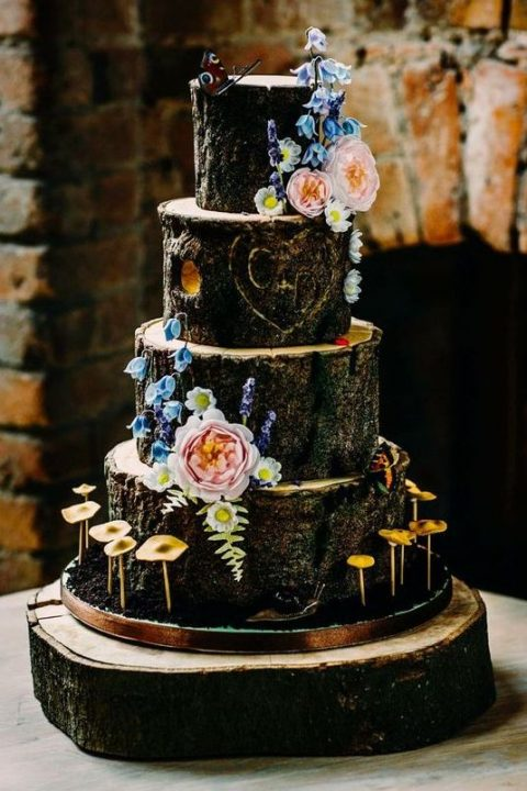25 Enchanted Forest And Woodland Wedding Cakes Happywedd Com